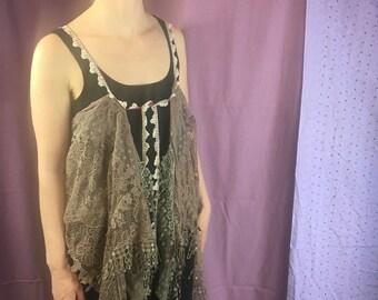 Tan Lace Vest (women's)
