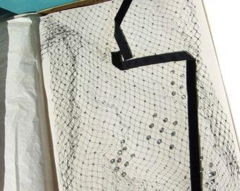 Vintage Ceil Chapman Fascinator Netted Hat Veils & Rhinstones New in Box – Set of 2