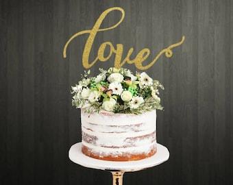 Love Cake Topper . Wedding Cake Topper . Cake Topper . Cake Toppers . Engagement Cake Topper . Cake Topper for Wedding . Love Cake Topper