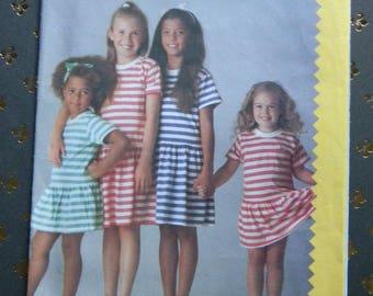 Vintage Esprit Girls Dress Pattern #3233, Uncut, Multisized