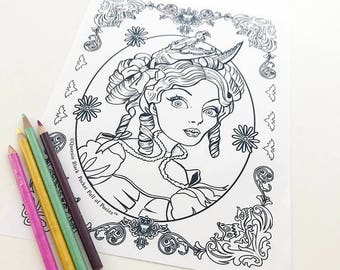 Tightrope Girl Tribute to the haunted Mansion Download Coloring Page Pocket Full of Posiez