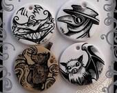 Halloween Pendant Cheshire Cat Pendant Plague Doctor Pendant Cthulhu Jewelry Bat Pendant Art Illustration Art Jewelry Gift for Friend Gothic