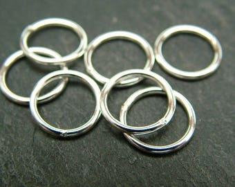 Sterling Silver Closed Jump Ring 10mm ~ 18ga (CG6470)