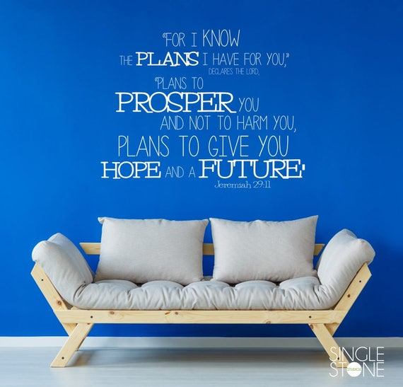 Bible Verse Wall Decals Jeremiah 29 11 Vinyl Wall Stickers