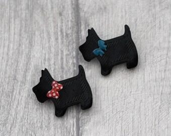 Dog Brooch, Animal Brooch, Wood Jewelry, Puppy Badge, Cute Dog Pin