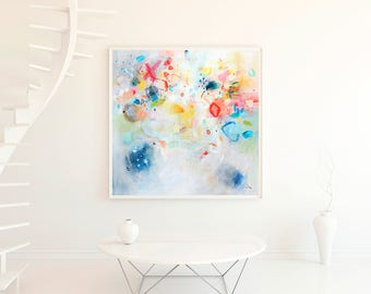 Abstract Wall Art, Modern Wall Art,abstract Giclee Print, Bright Wall Decor,