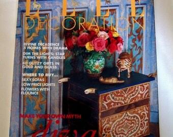 Elle Decoration Magazine December 1993 - Beautiful Interiors, Gift Ideas, Lighting Design etc
