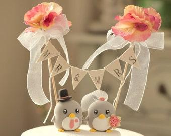 Penguins Wedding Cake Topper (K422)