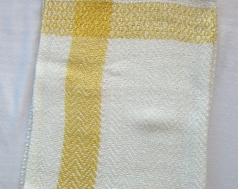 Canary Yellow Striped Bamboo Towels