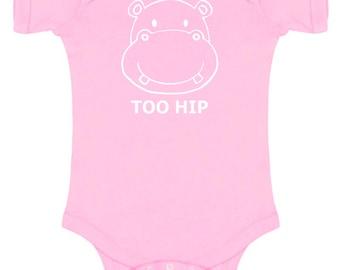Hippo 'Too Hip' Baby Bodysuit