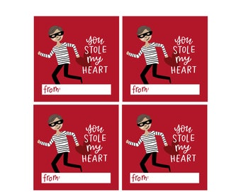 Kids Valentines Cards - You Stole My Heart