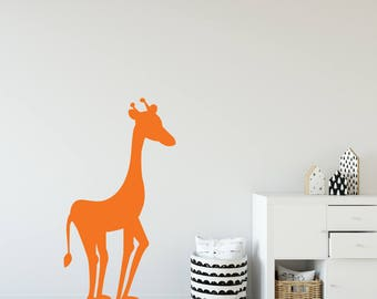 Giraffe Wall Decal, Playroom Wall Decal, Jungle Animal Wall Decals, Wall  Stickers For