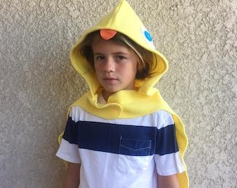 Duckling Cape, Kids Halloween Bird Costume, Yellow Duck Costume, Ready to Ship