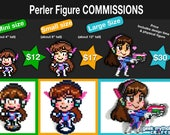 Perler Bead Pixel Art Figure Commissions - You Pick Any Character or OC!