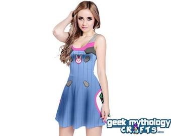 D Va Inspired Sleeveless Cosplay Dress PREORDER