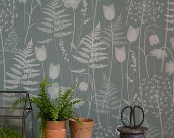 Charlotte's Garden wallpaper in 'heath'