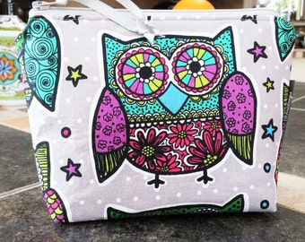 Owl Make-Up / Organizer / Storage  / Cell Phone Bag