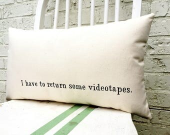 American Psycho Pillow - I have to Return Some Videotapes