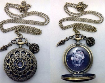 Upcycled Pocket Watch | Necklace | Wearable Art  | Wonderland Necklace | Alice