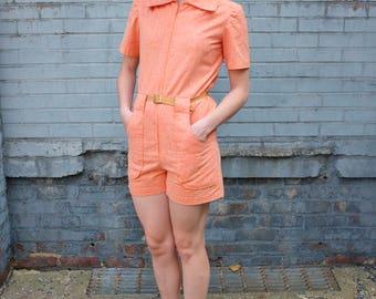 60's Tangerine Playsuit Romper