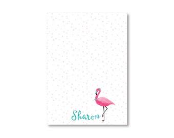 Personalized Notepad- Fancy Flamingo