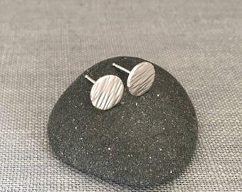 Small Silver Studs - Hammered Silver Earrings - Ripple Silver Studs - Dainty Silver Earrings - Modern Silver Earrings - Minimalist Jewelry