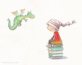 Filo's Books - Art Print