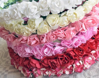 Pinks~ Paper Flower Crown- Choose a Color