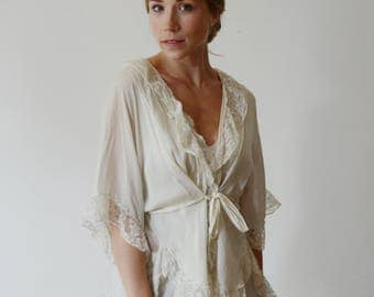1920s Silk Bed Jacket - S