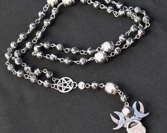 Handmade Cauldron of Cerridwen Pagan Rosary~Reduced Price