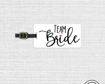 Team Bride Luggage Tag Metal Tag Single Tag Bridesmaids, Maid or Matron of Honor, Man of Honor wedding party gift