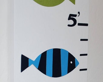 Personalized Wood Growth Chart . Fish