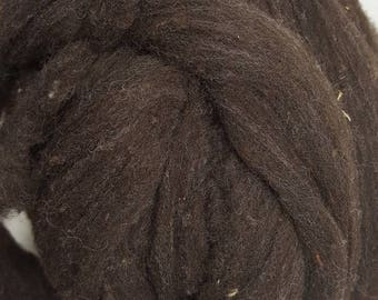 USA Wool Roving. Natural Brown Carded Sliver, Wool Roving 25.8 micron, Spinning Fiber, Felting Fiber, 1 lb