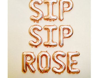 Rose Gold Sip Sip Rose, Rose All Day Balloons, Rose All Day, Rose Gold Rose All Day,Rose Gold Balloons, yes Way Rose,Rose Gold Brunch