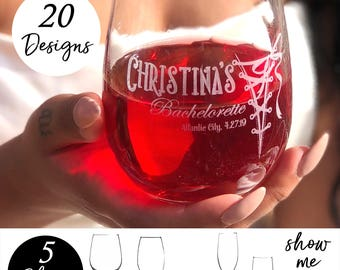 Stemless Wine Glasses, Personalized Stemless Wine Glasses, Bridesmaid Wine Glasses