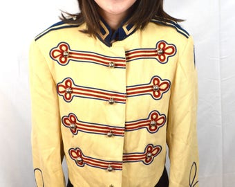 Vintage 1950s 50s Union Made Womens Band Uniform Jacket Costume Coat