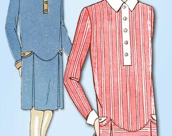 1920s Vintage Ladies Home Journal Sewing Pattern 5137 FF Girls Flapper Dress 14