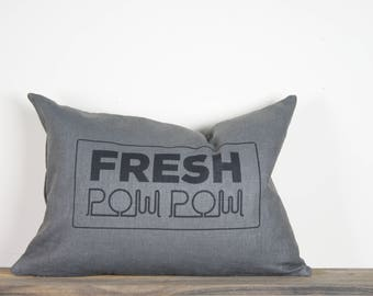 "14""x24"" Fresh Pow Pow Lumbar Pillow Cover 