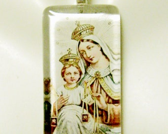 Our Lady of Mount Carmel pendant with chain - GP01-017