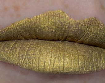 REIGN Matte Metallic Liquid Lipstick Gold Shade