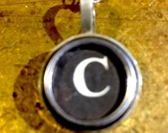C Typewriter Key Pendant