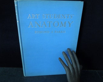 Book Artist Student's Anatomy Vintage - How to Draw the Human Body - Nudes Skeleton Illustrations - Gift for Art Teacher Student Artist