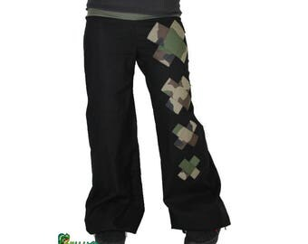 Wide cross camouflage pants made to measure