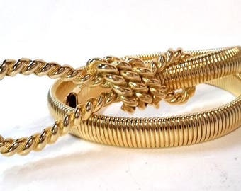 Vintage Accessocraft NYC Gold tone belt Size Small