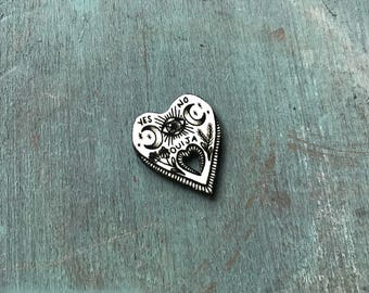 Palmistry Palm Reading Hand Fortune Teller Button Occult Pin Gypsy Witchcraft Pendant Ouija Board Planchette