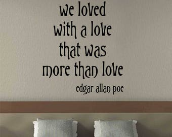 More Than Love Quote, Vinyl Wall Lettering, Vinyl Wall Decals, Vinyl Decals,