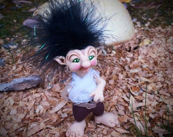 ARI Schrume - TROLL Doll Collectible Figurine, The Schrumes Collection