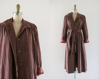 suede velvet trench coat