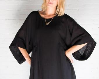 NEW Loose Dress / Kimono Sleeve Dress / Elegant Wear / Midi Dress / Oversize Dress / Long Tunic Dress / Marcellamoda - MD0941