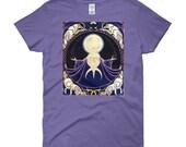 Wolf Moon Goddess Women's cut t-shirt